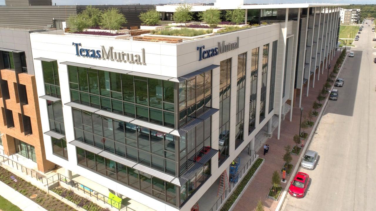 Image of Texas Mutual Insurance company building.